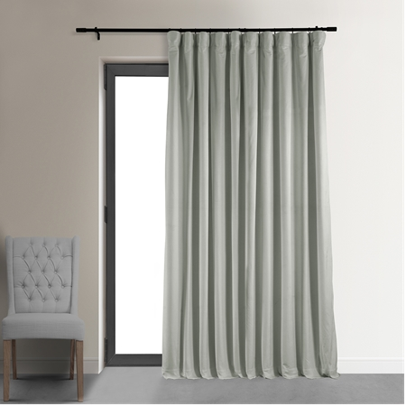 Signature Reflection Grey Doublewide Blackout Velvet Curtain