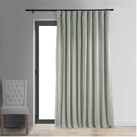 Signature Reflection Grey Doublewide Blackout Velvet Curtain