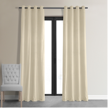 Signature Ivory Grommet Blackout Velvet Curtain