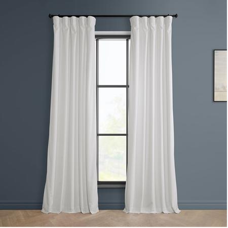 Pillow White Heritage Plush Velvet Curtain