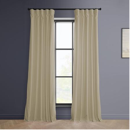 Vanilla Heritage Plush Velvet Curtain