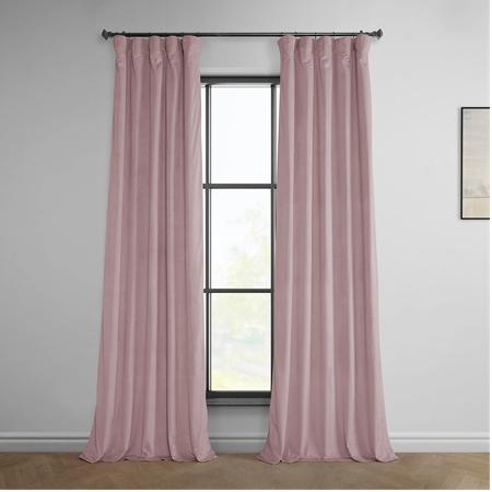 Ballet Pink Heritage Plush Velvet Curtain