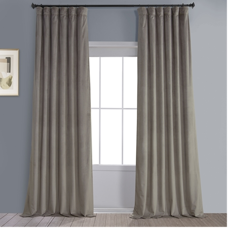 Gallery Taupe Heritage Plush Velvet Curtain