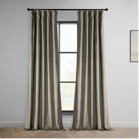 Gallery Taupe Heritage Plush Velvet Curtain