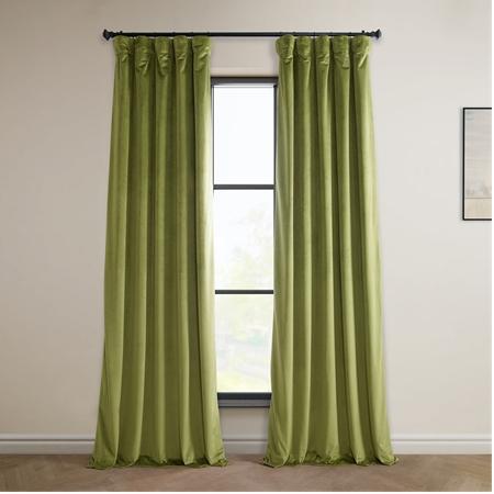 Retro Green Heritage Plush Velvet Curtain