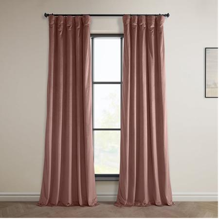 Wild Rose Heritage Plush Velvet Curtain