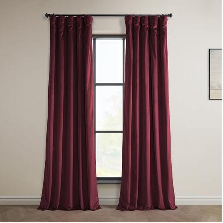 Dark Merlot Heritage Plush Velvet Curtain