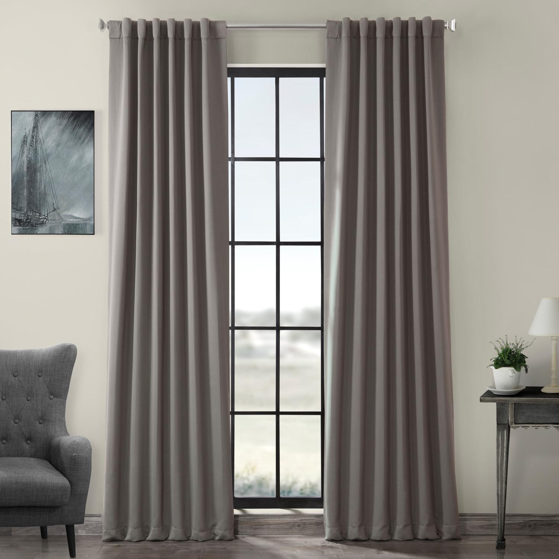 Pole Pocket Neutral Grey Blackout Curtain