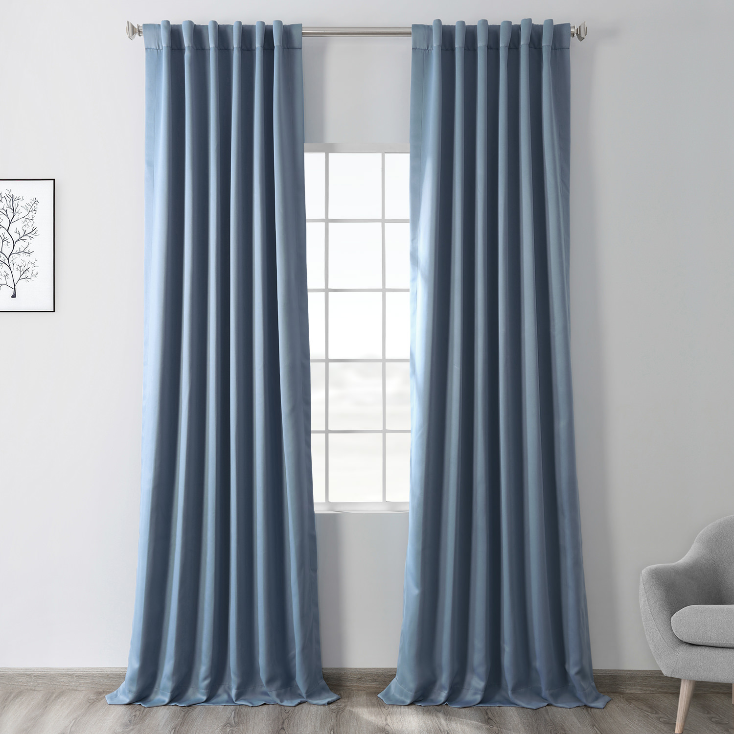 Poseidon Blue Blackout Curtain