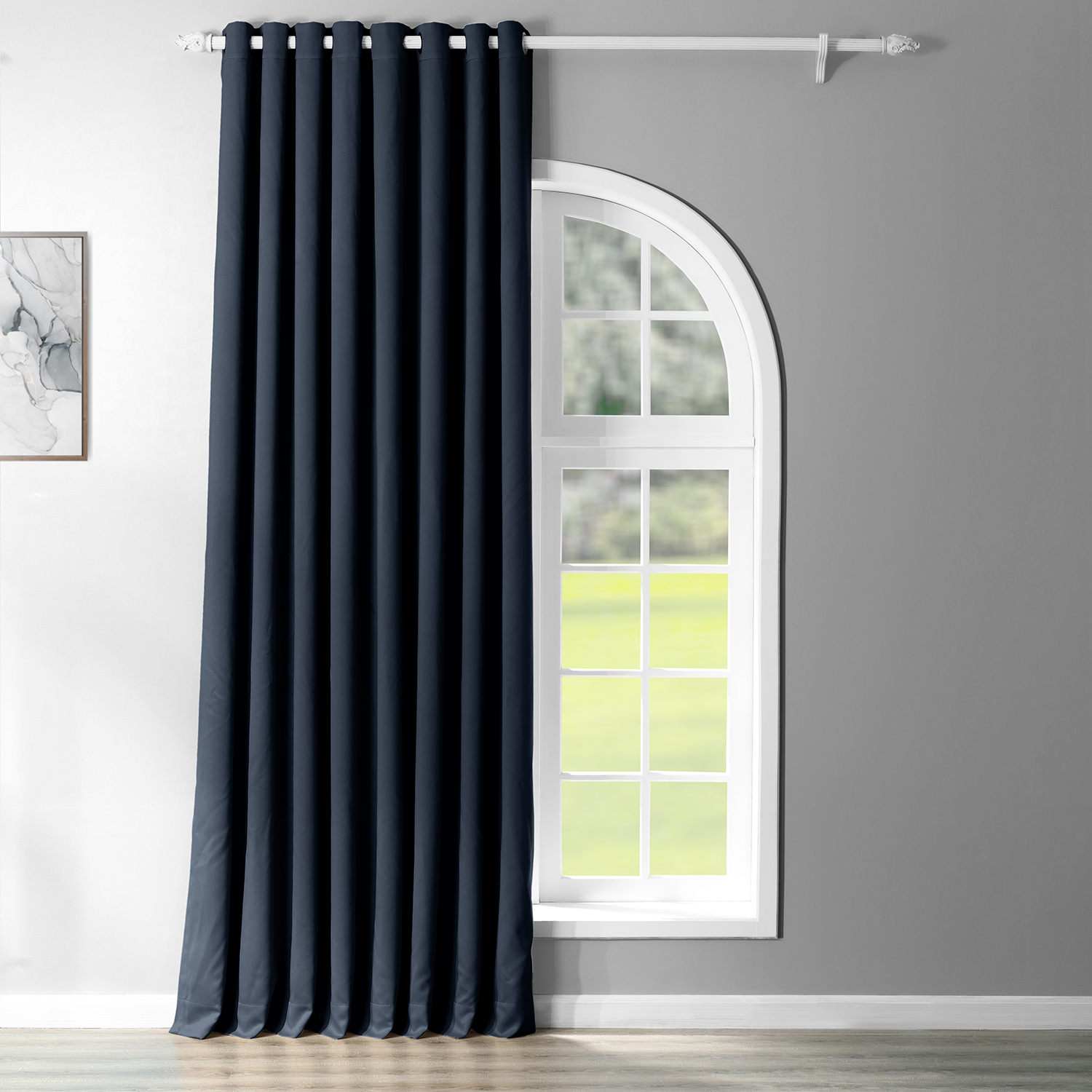 Navy Blue Grommet Doublewide Blackout Curtain
