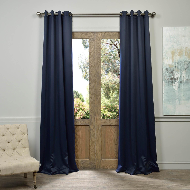 Grommet Eclipse Blue Blackout Curtain