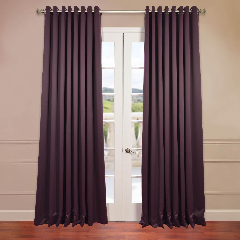 Aubergine Grommet Doublewide Blackout Curtain