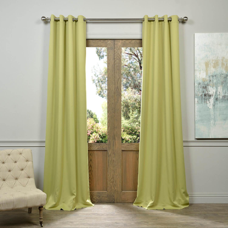 Lichen Grommet Blackout Curtain