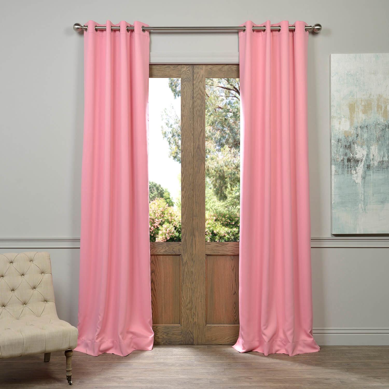 Precious Pink Grommet Blackout Curtain