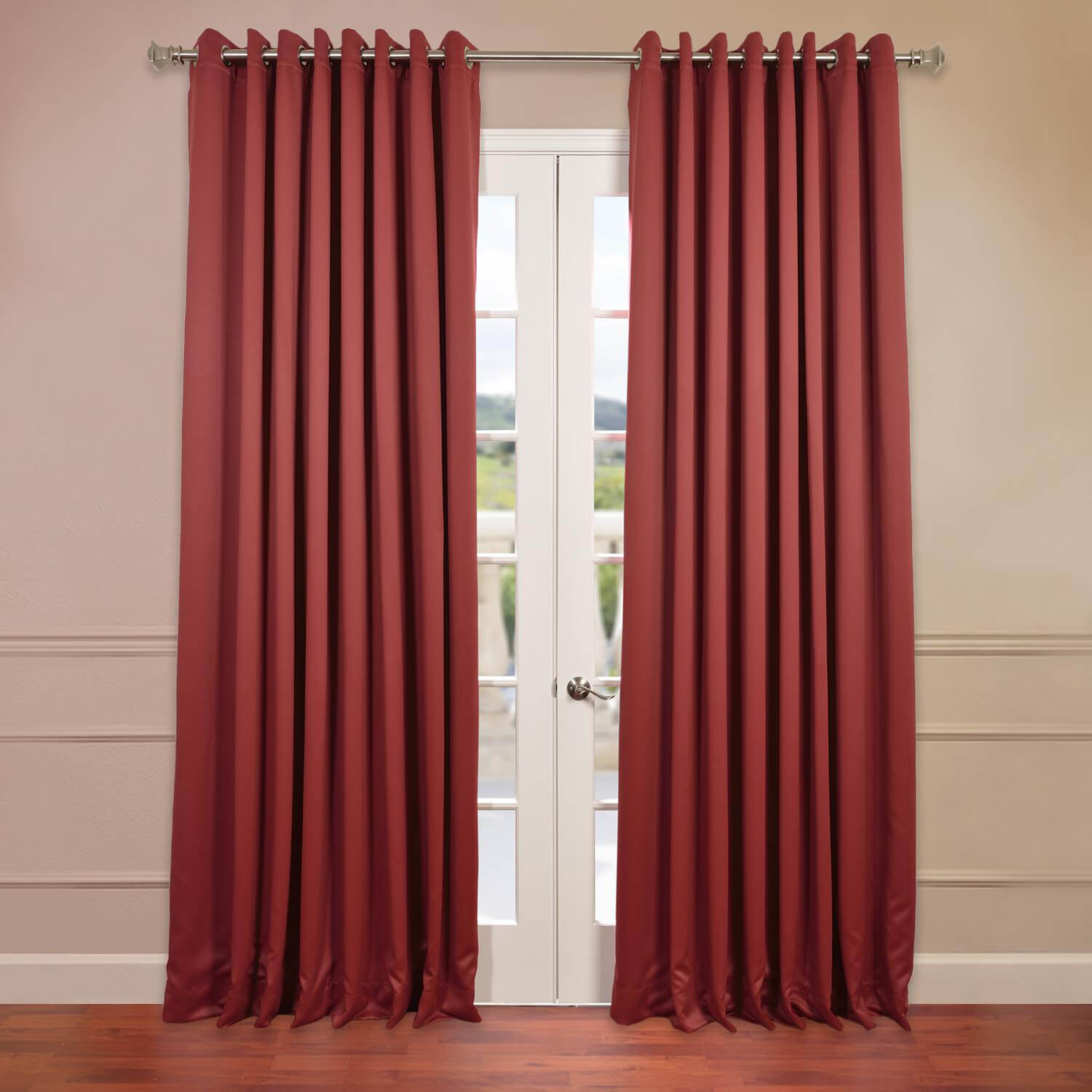 Tibetan Red Grommet Doublewide Blackout Curtain