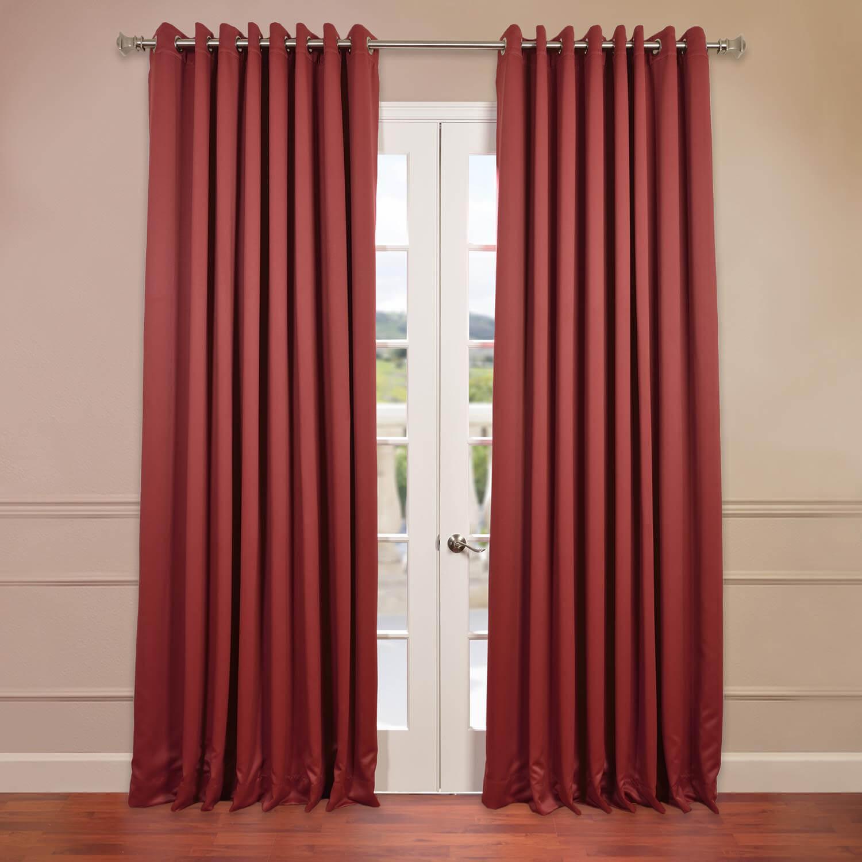 Tibetan Red Grommet Doublewide Blackout Curtain