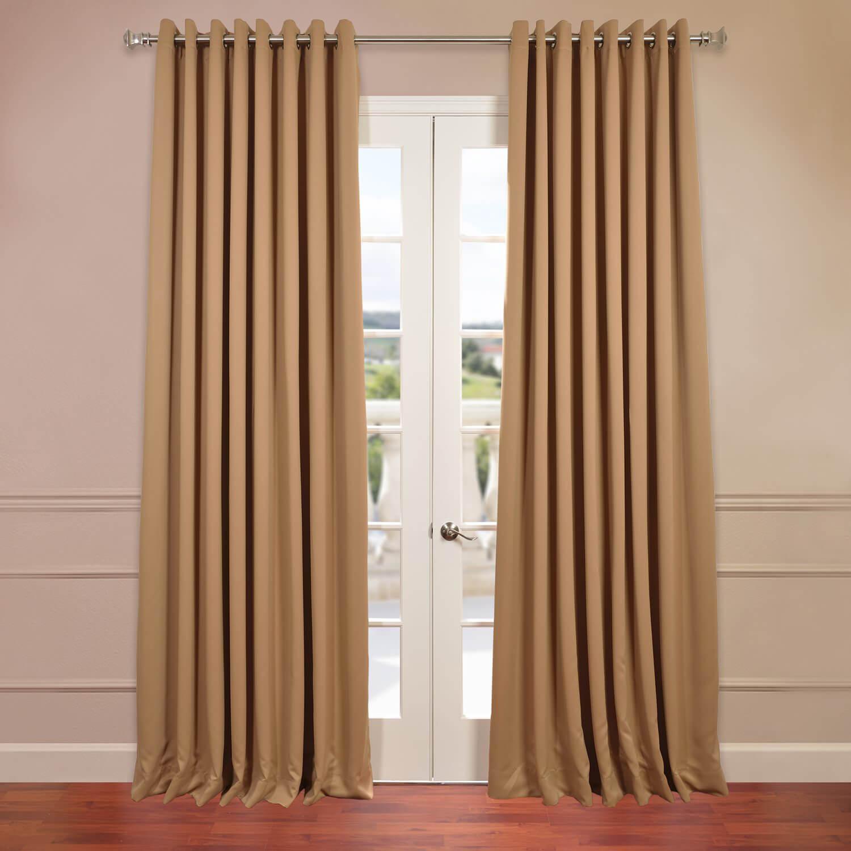 Alpaca Tan Grommet Doublewide Blackout Curtain