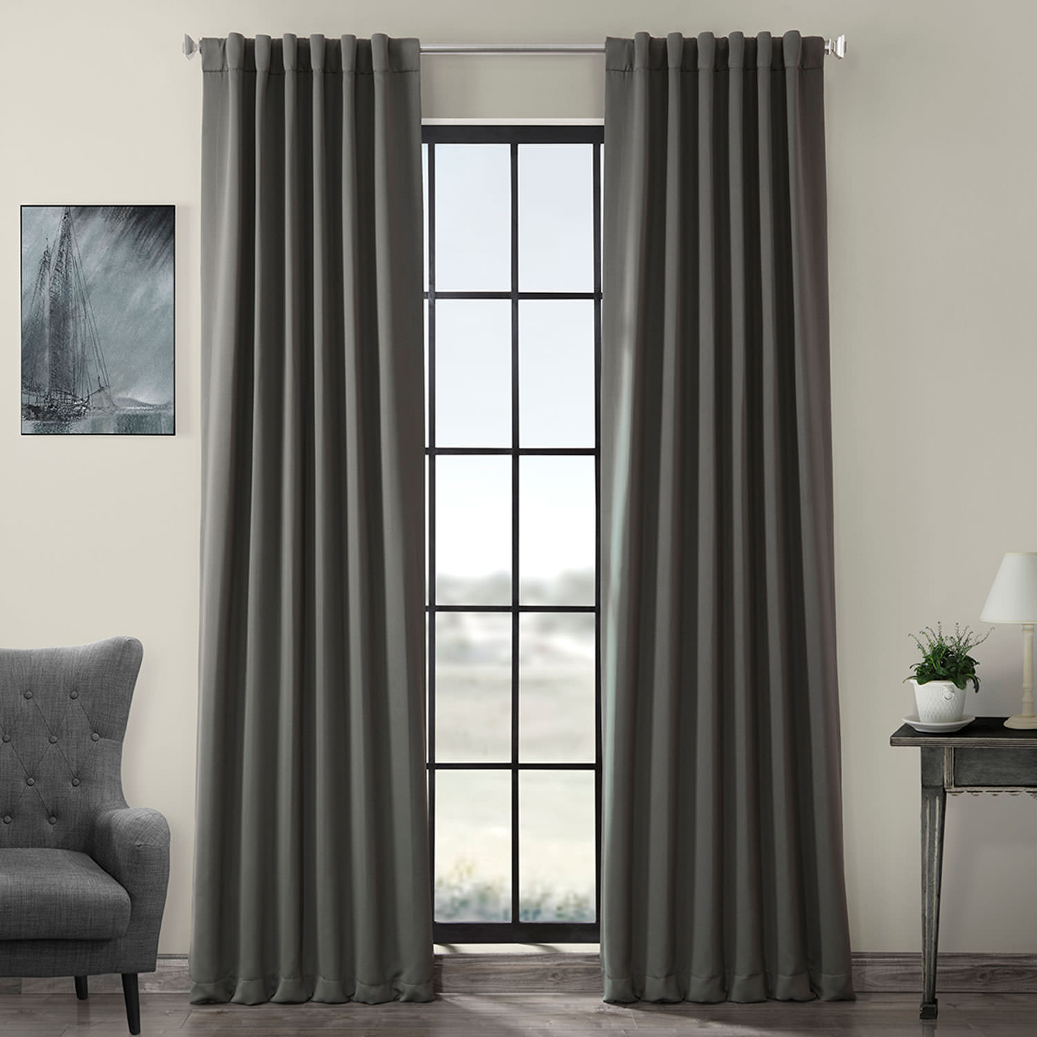 Anthracite Grey Blackout Curtain