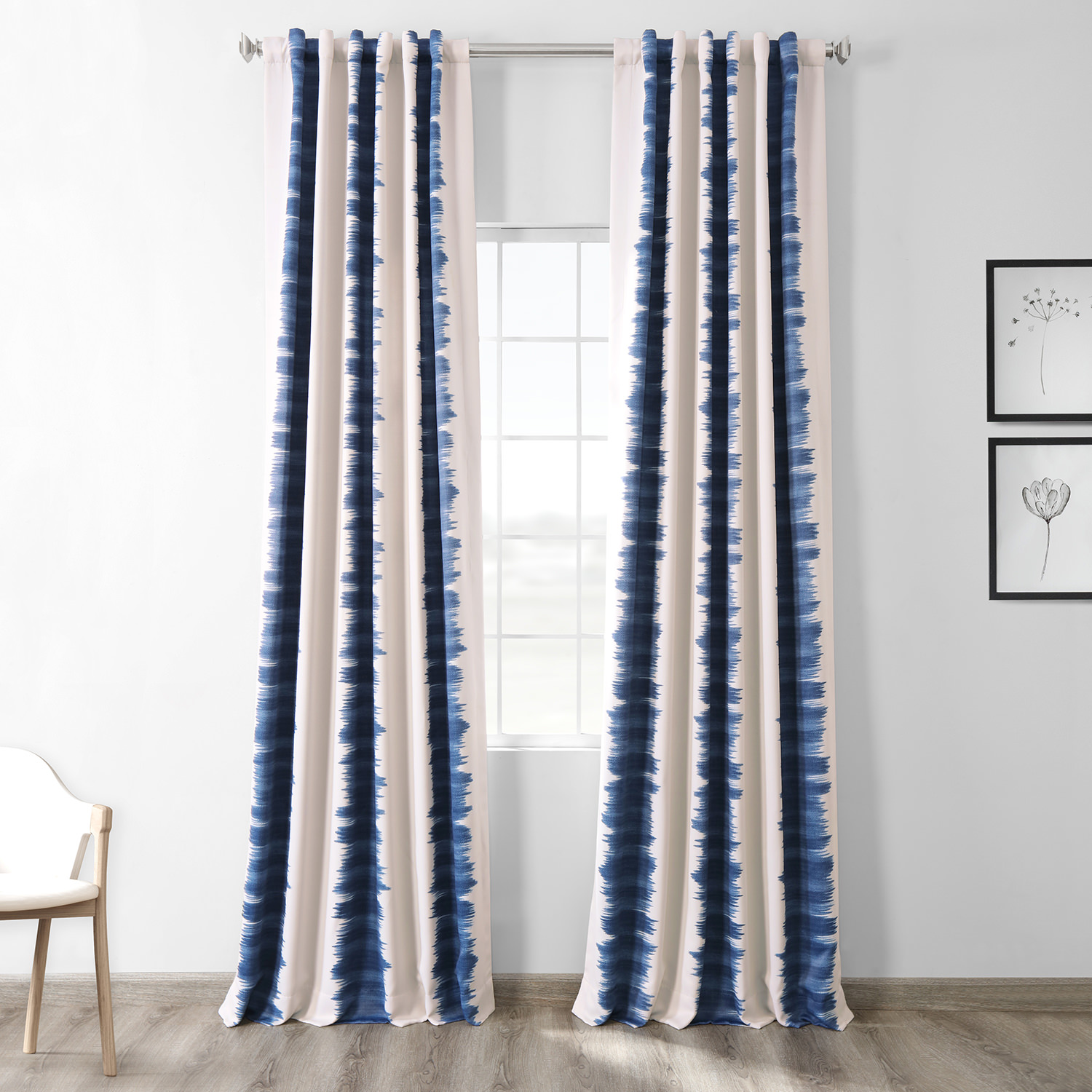 Flambe Blue Blackout Curtain