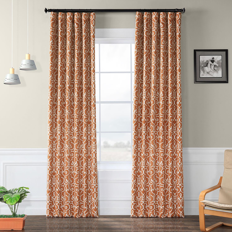 Nouveau Rust Blackout Curtain