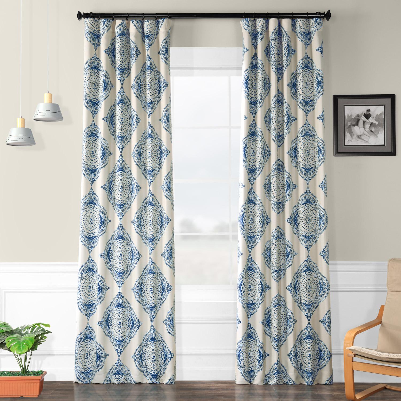 Henna Blue Blackout Curtain