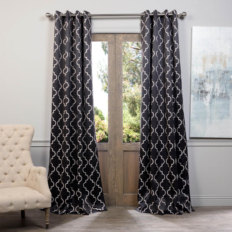 Seville Black Grommet Blackout Curtain