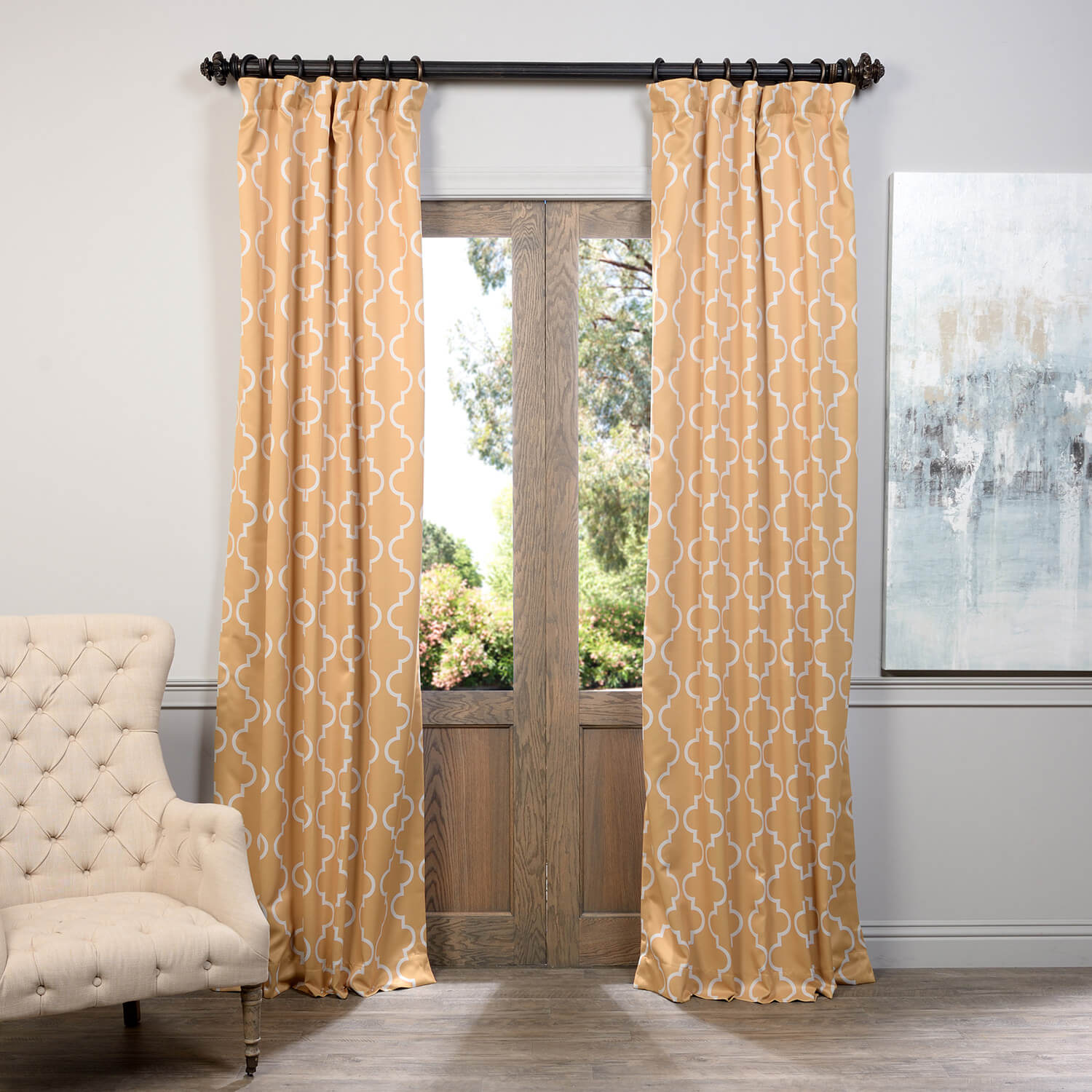 Seville Yellow Blackout Curtain