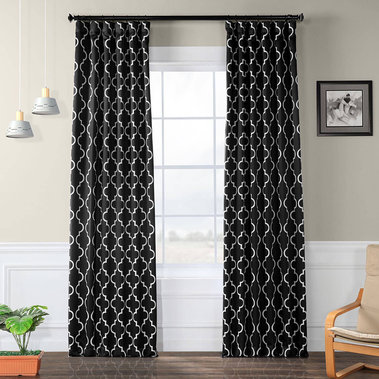 Seville Black Blackout Curtain