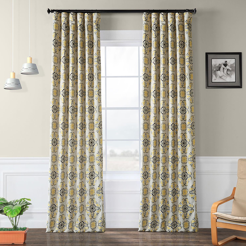 Soliel Yellow Grey Blackout Curtain