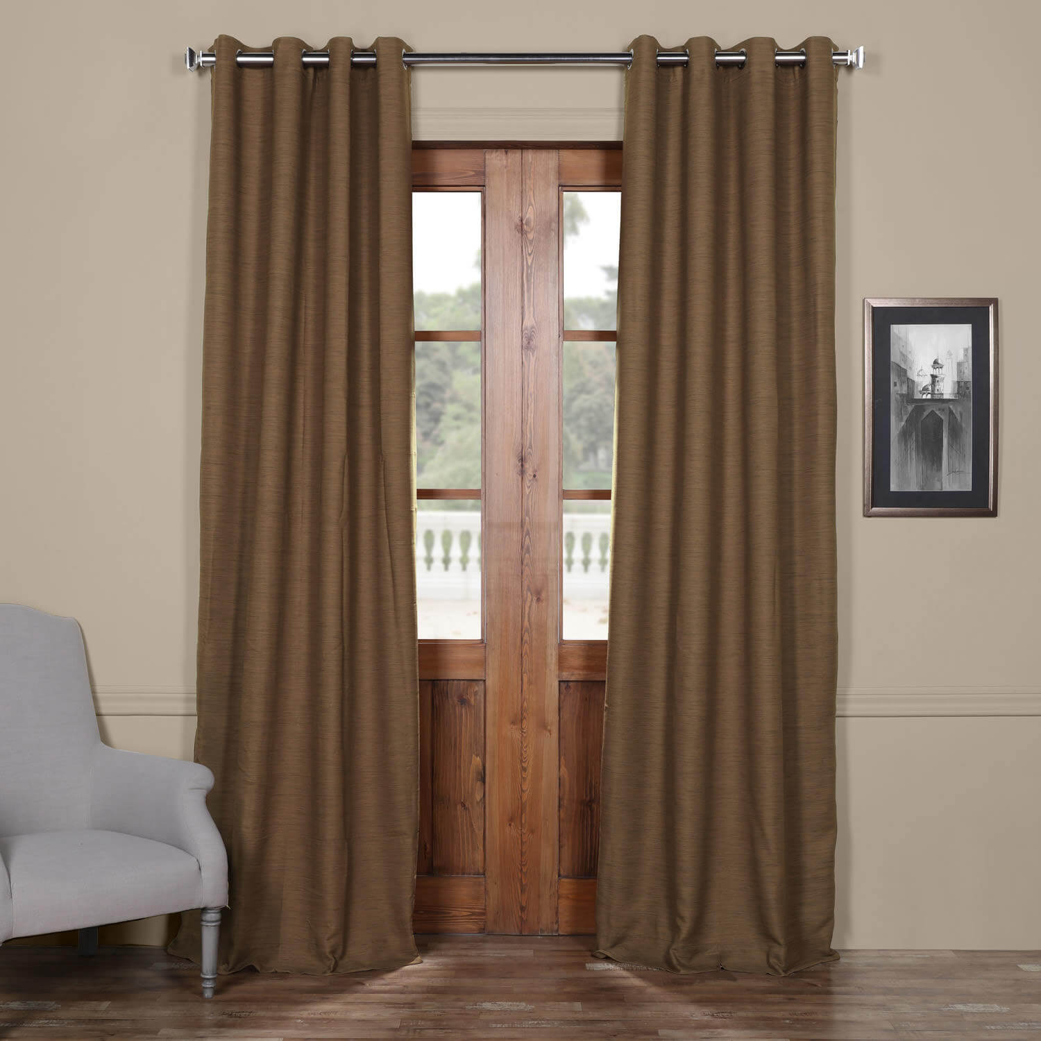 Turkish Coffee Bellino Grommet Blackout Curtain