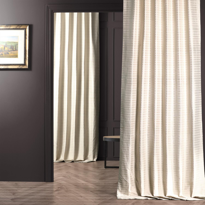 White Hand Weaved Cotton Curtain