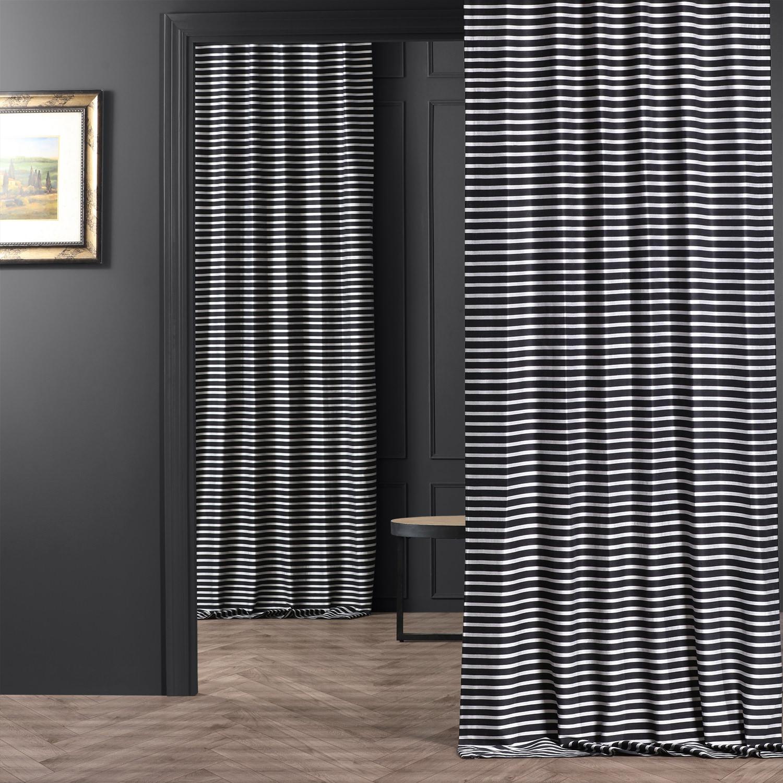 Black & Silver Casual Cotton Curtain