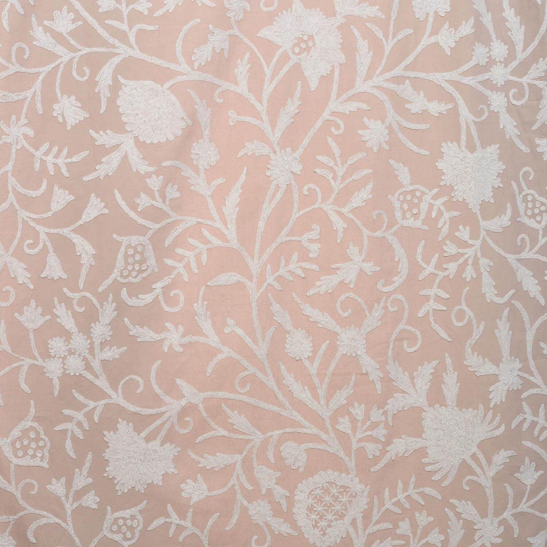 Celine Linen Embroidered Cotton Crewel Swatch