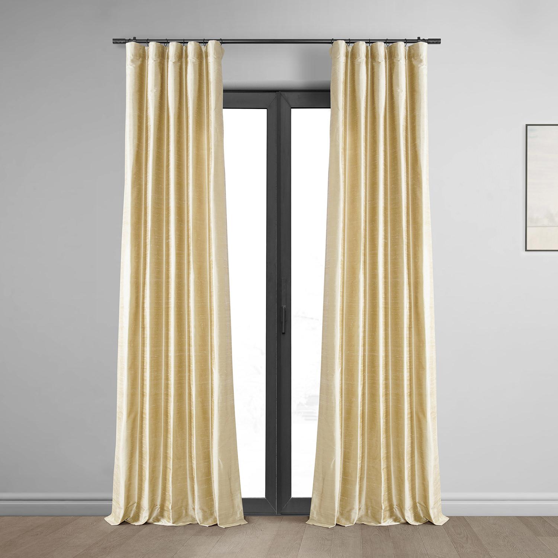 Biscotti Textured Dupioni Silk Curtain