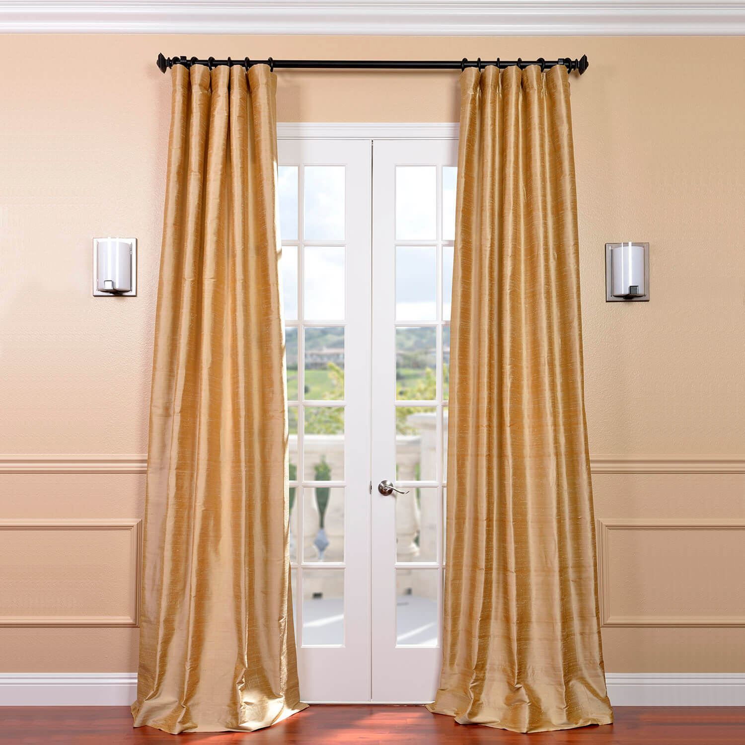 Biscotti Textured Dupioni Silk Curtains, Silk Drapes