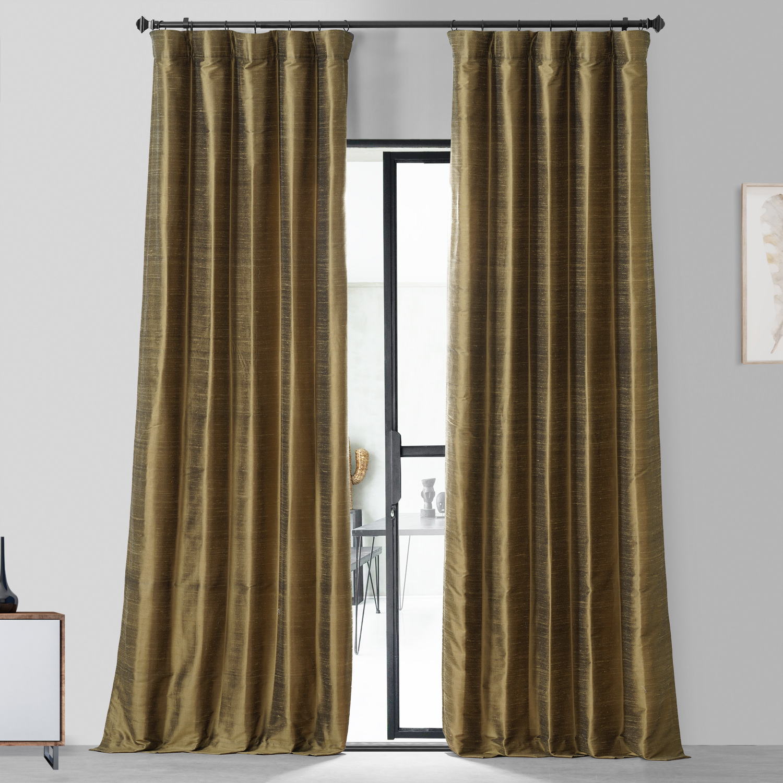Sconce Gold Textured Dupioni Silk Curtain