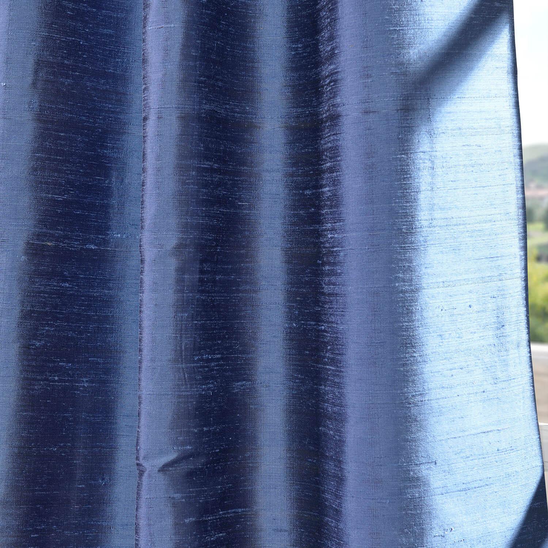 Winter Blue Textured Dupioni Silk Swatch