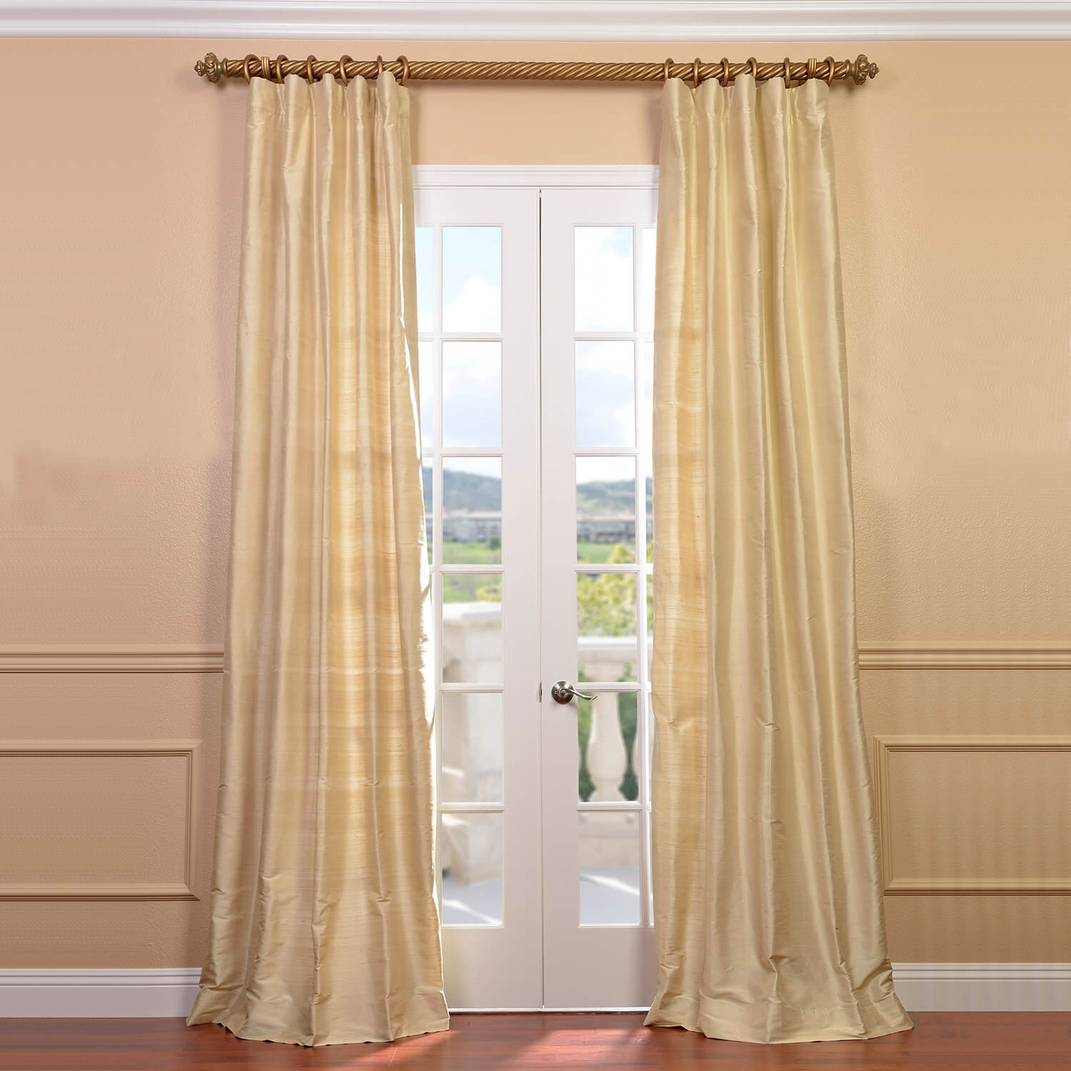 Maplewood Textured Dupioni Silk Curtain