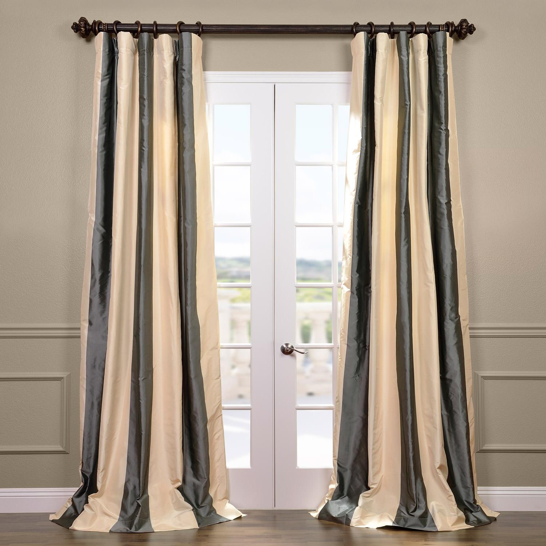 Nob Hill Silk Stripe Curtain
