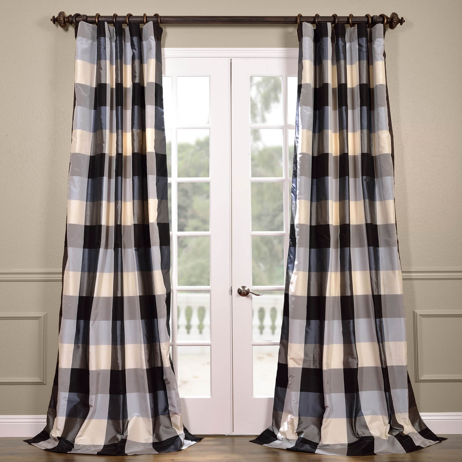 Oxford Silk Plaid Curtain