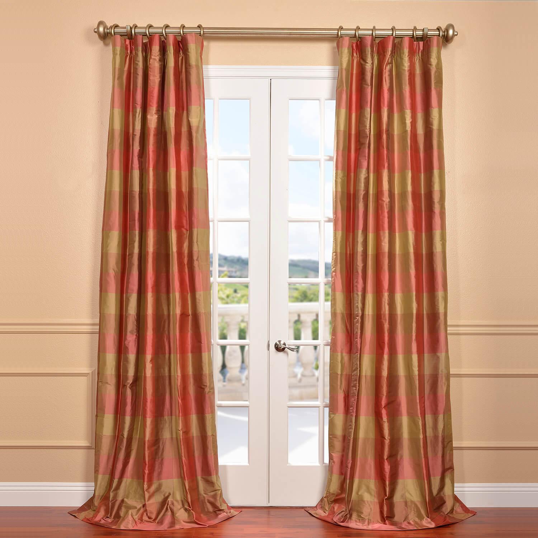 Derby Silk Plaid Curtain