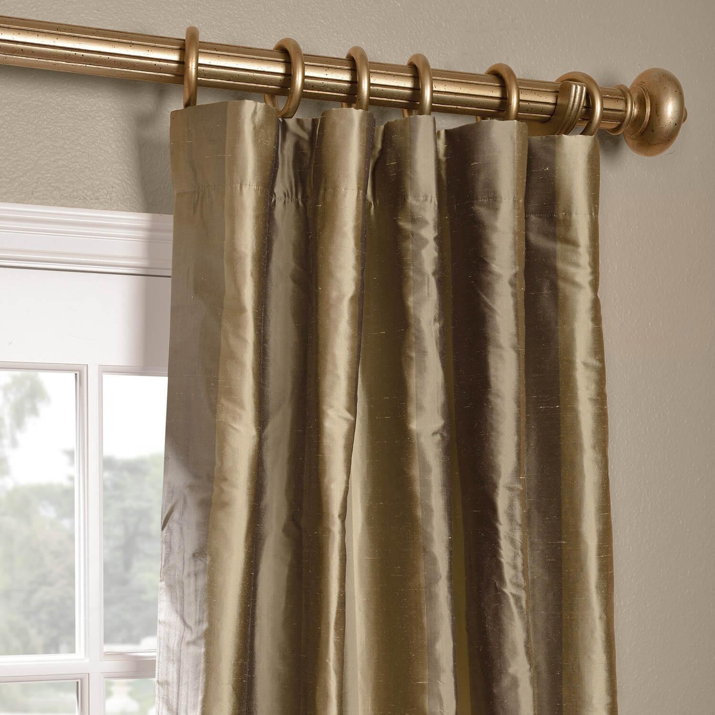 Cairo Haze Silk Stripe Curtain
