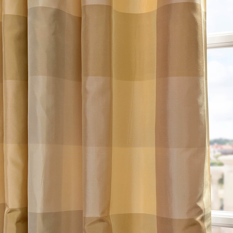 Newman Taffeta Silk Plaid Swatch