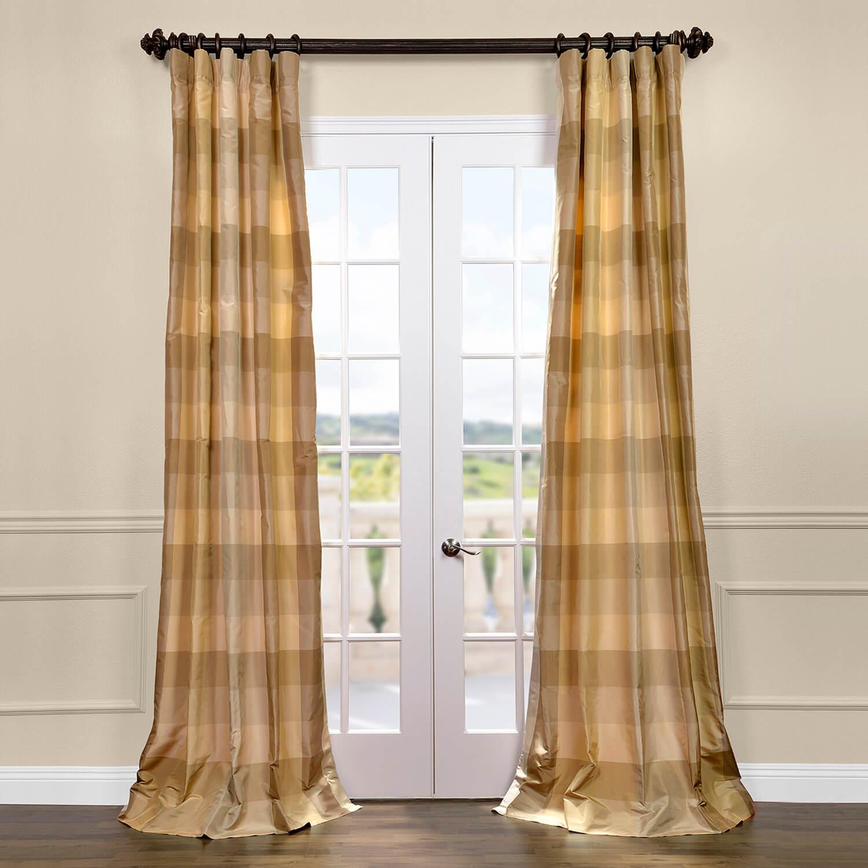Newman Silk Taffeta Plaid Curtain