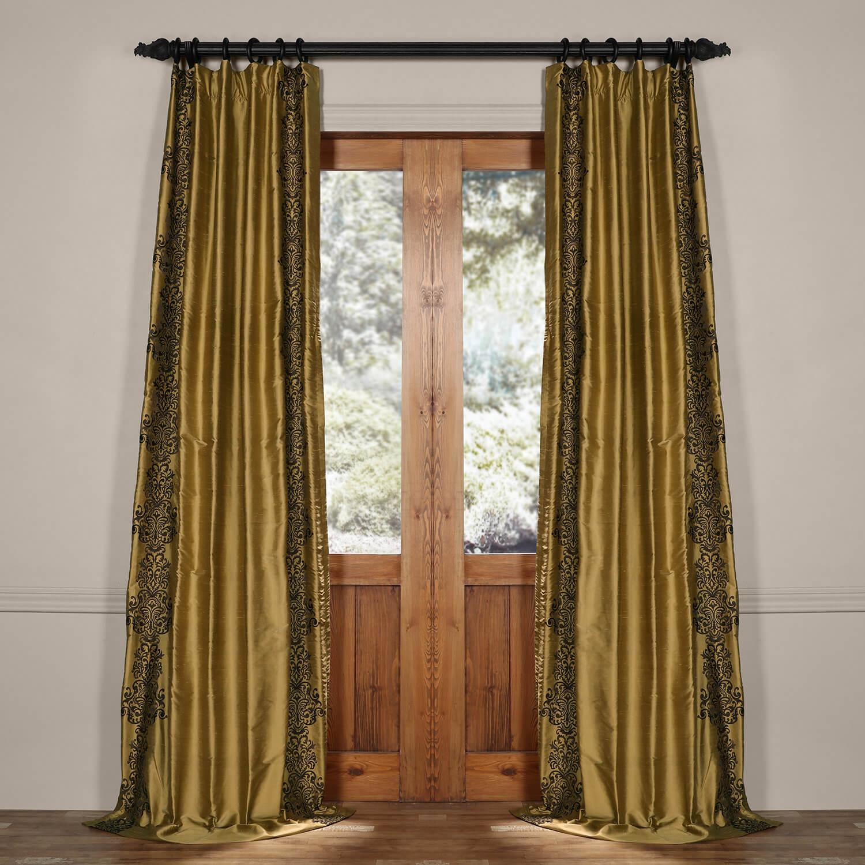 Rowena Gold Dust Silk Curtain
