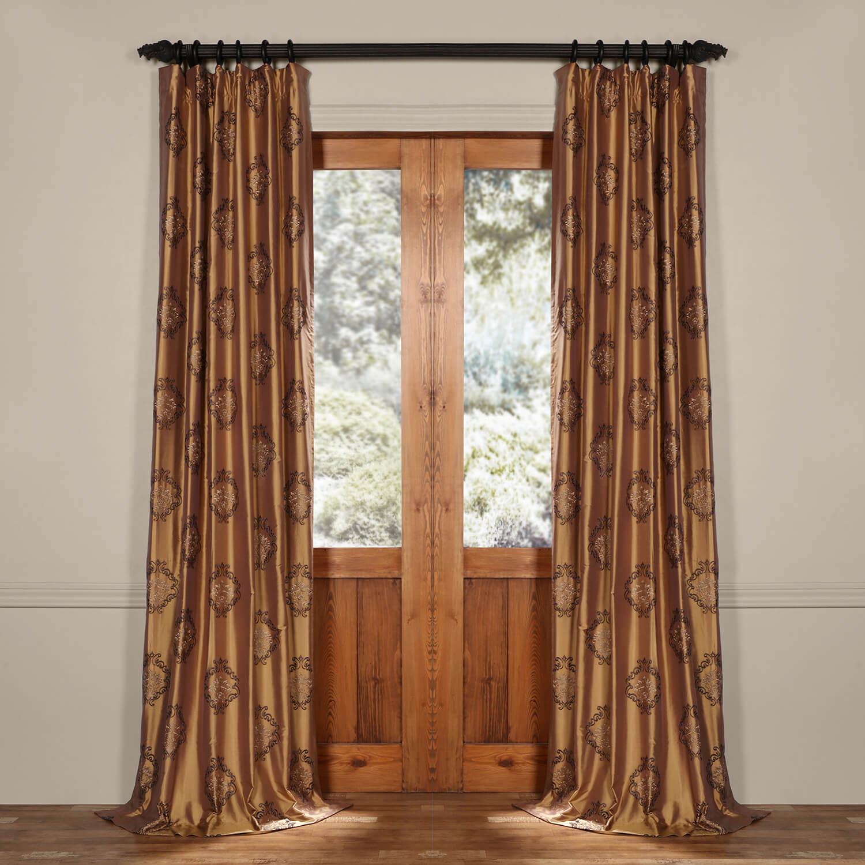 Taj Mahal Silk Curtain