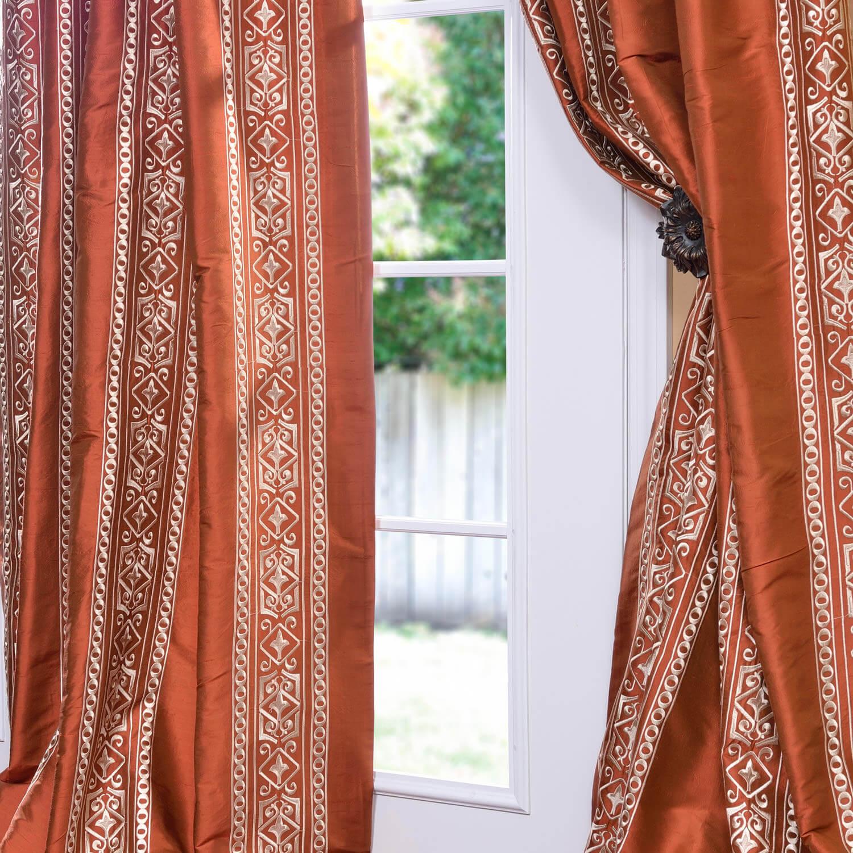 Istanbul Cayenne Silk Curtain