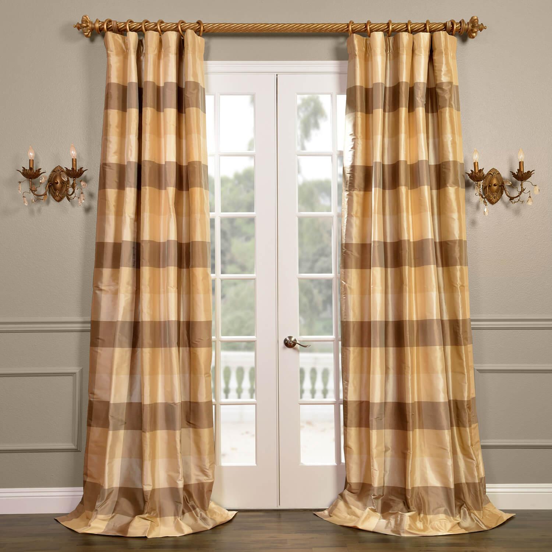 Sheffield Silk Plaid Curtain