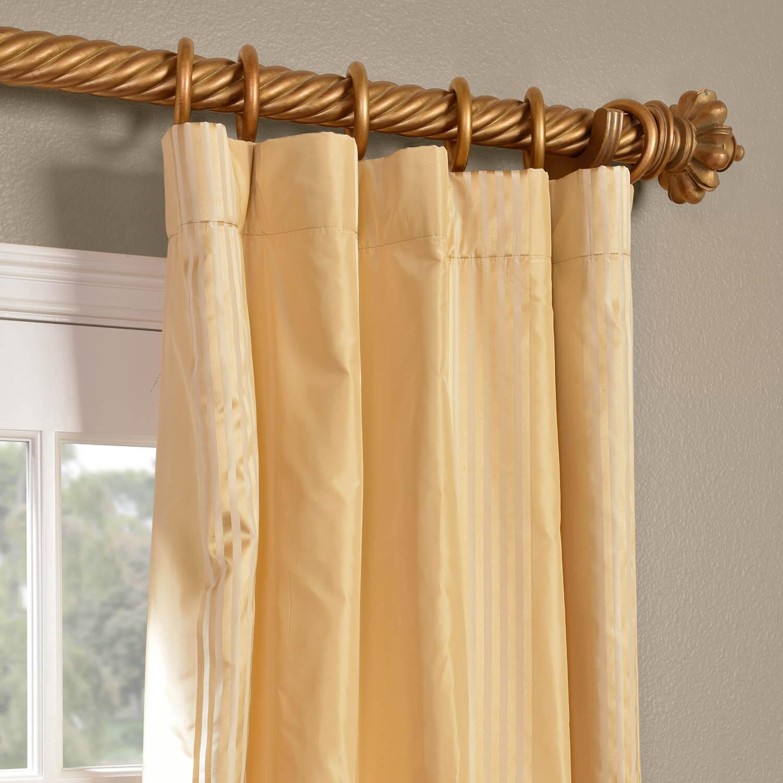Waterford Sand Silk Stripe Curtain