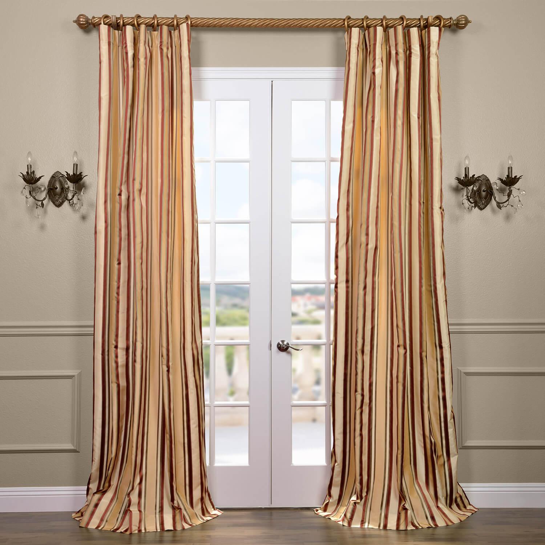 Toscano Silk Taffeta Stripe Curtain